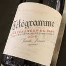 TELEGRAMME ROUGE CHATEAUNEUF DU PAPE 2016