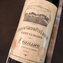 GRAND PUY LACOSTE ROUGE PAUILLAC 1986